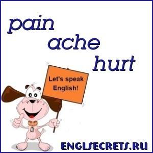 В Чем Разница Между Pain, Ache, Hurt И Sore - Учим английский вместе
